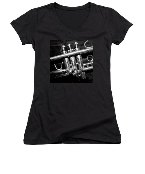 Valves Women's V-Neck T-Shirt (Junior Cut) by Photographic Arts And Design Studio