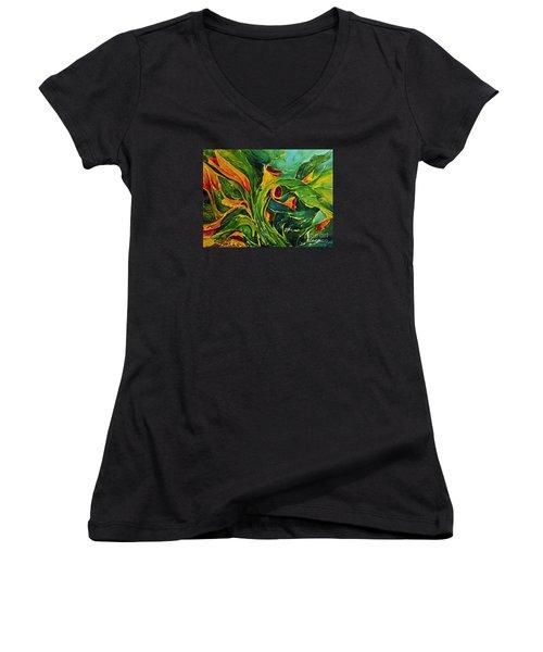 Variation  No.2 Women's V-Neck T-Shirt (Junior Cut) by Teresa Wegrzyn