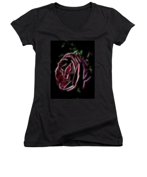 Velvet Rose 1 Women's V-Neck T-Shirt
