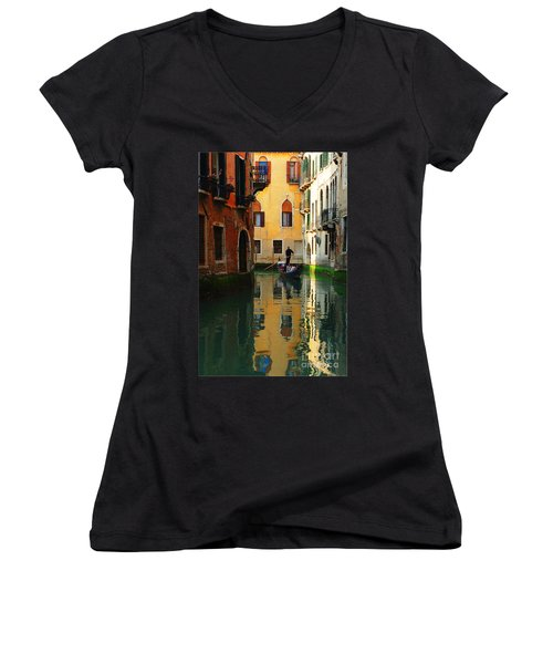 Venice Reflections Women's V-Neck T-Shirt