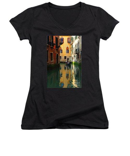 Venice Reflections Women's V-Neck (Athletic Fit)