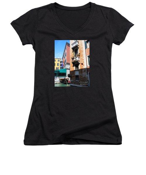 Venice Series 6 Women's V-Neck T-Shirt (Junior Cut) by Ramona Matei