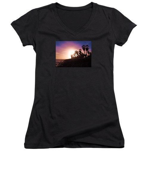 Ventura Beach Sunset Women's V-Neck T-Shirt