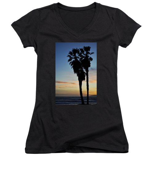 Ventura Palm Sunset Women's V-Neck