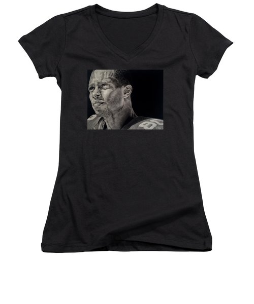 Victor Cruz Drawing Women's V-Neck T-Shirt