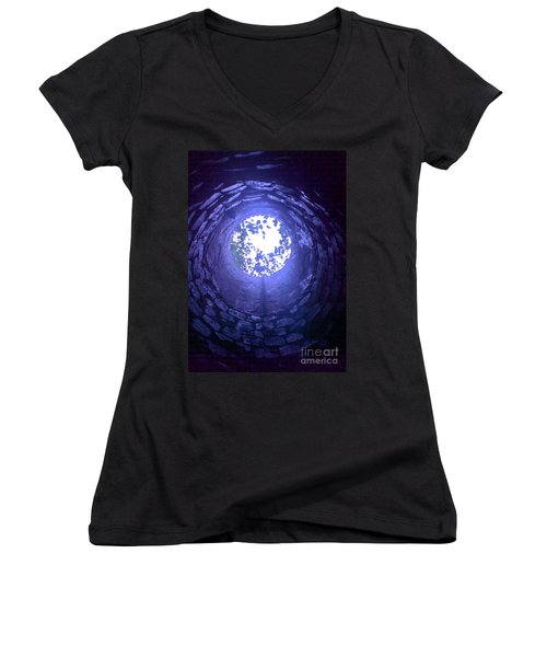 View From Below Women's V-Neck T-Shirt (Junior Cut) by John Williams