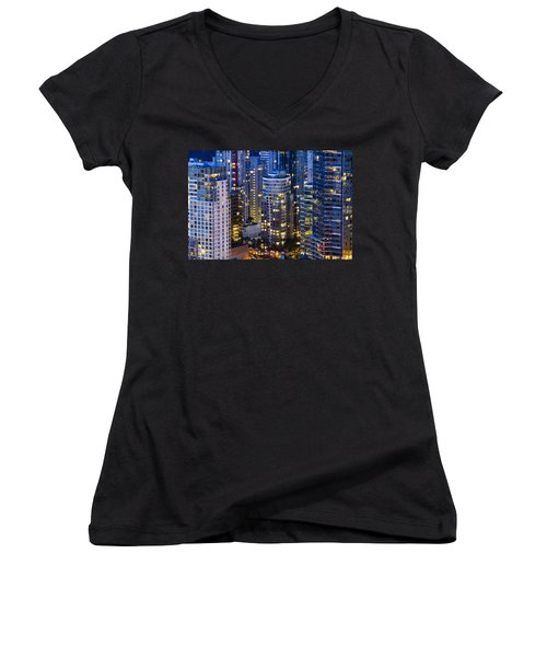View Towards Coal Harbor Vancouver Mdxxvii  Women's V-Neck T-Shirt