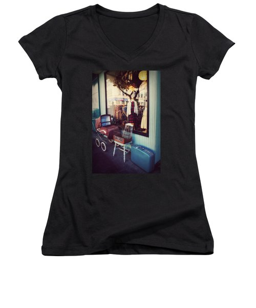 Vintage Memories Women's V-Neck (Athletic Fit)