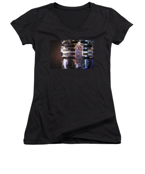 Vintage Microphone Painted Women's V-Neck