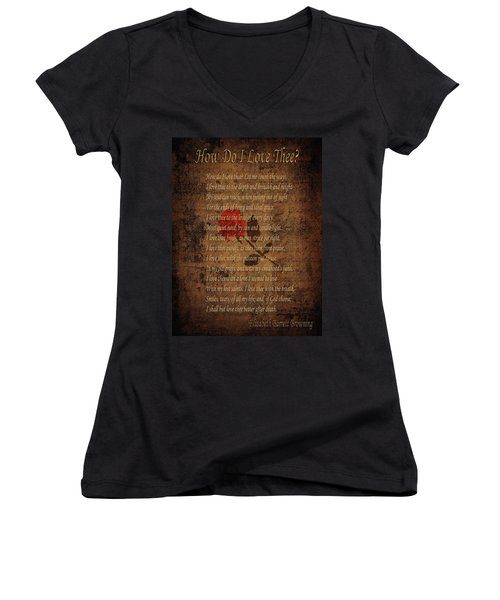 Vintage Poem 4 Women's V-Neck (Athletic Fit)