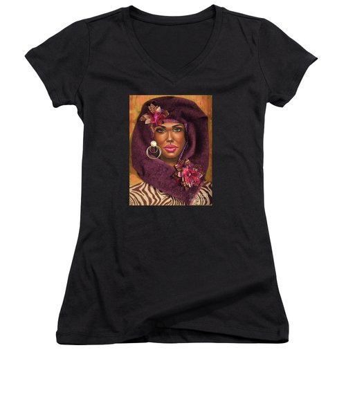 Violets Women's V-Neck T-Shirt (Junior Cut)