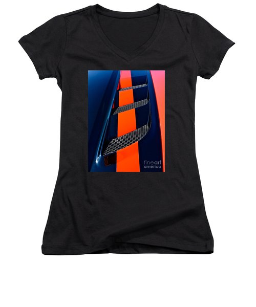 Women's V-Neck T-Shirt (Junior Cut) featuring the photograph Viper by Linda Bianic