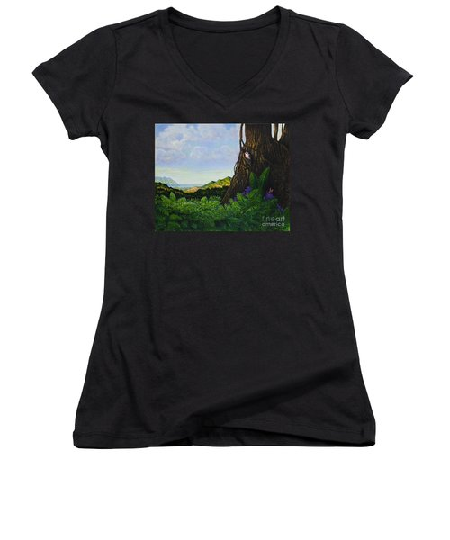 Visions Of Paradise V Women's V-Neck (Athletic Fit)