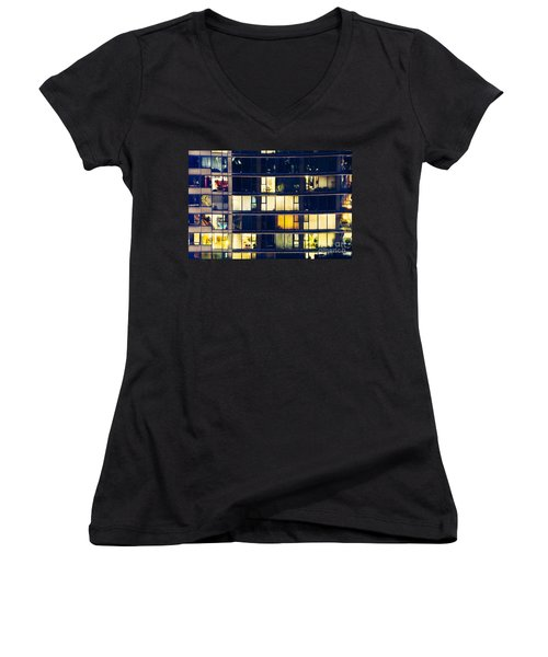 Voyeuristic Pleasure Cdlxxxviii Women's V-Neck T-Shirt (Junior Cut) by Amyn Nasser