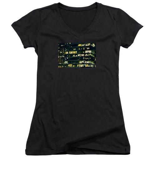 Women's V-Neck T-Shirt (Junior Cut) featuring the photograph Voyeuristic Work Cclxvii by Amyn Nasser