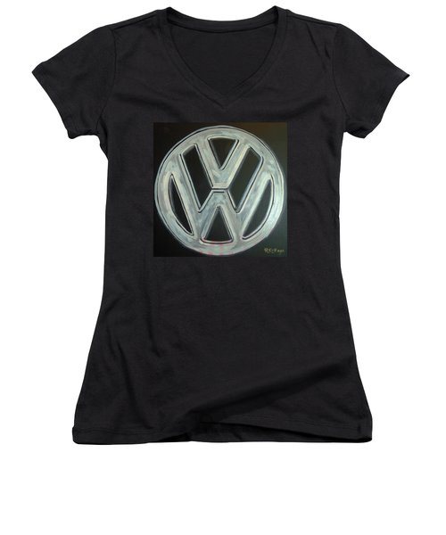 Vw Logo Chrome Women's V-Neck