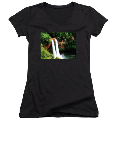 Wailua Falls Women's V-Neck T-Shirt