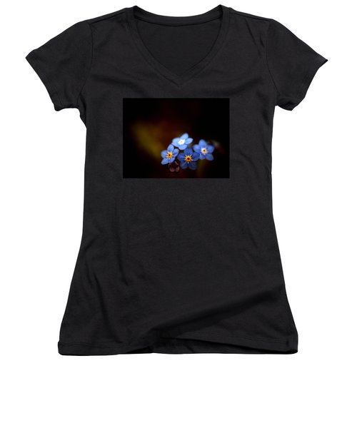 Women's V-Neck T-Shirt (Junior Cut) featuring the photograph Waiting For The Light by Rachel Mirror