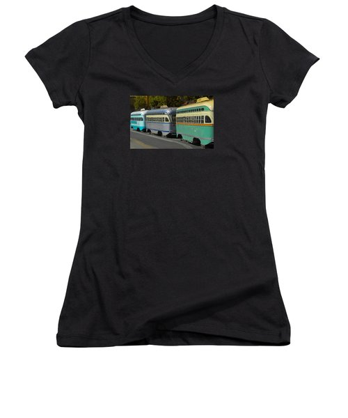 Waiting In Line Women's V-Neck (Athletic Fit)