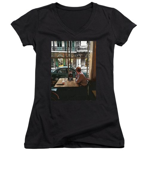 Waiting  Women's V-Neck T-Shirt