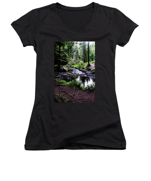 Walk By The Water Women's V-Neck (Athletic Fit)