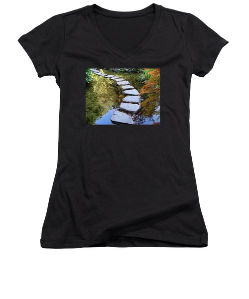 Walk On Water Women's V-Neck (Athletic Fit)