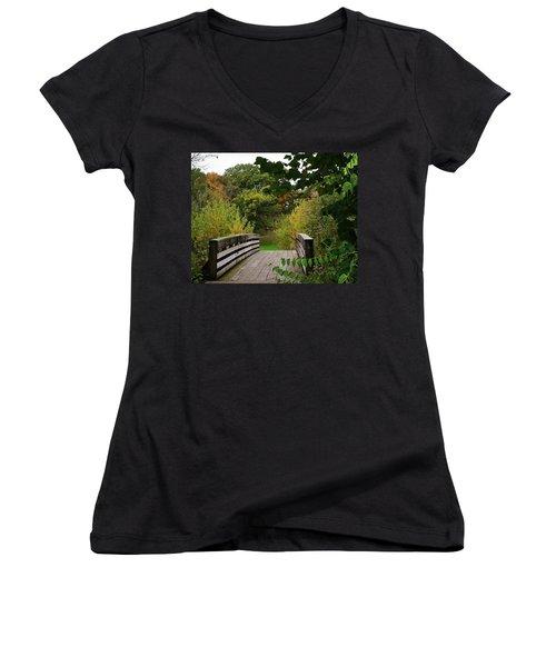 Walking Bridge Women's V-Neck (Athletic Fit)