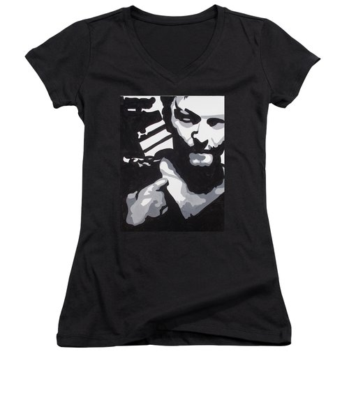Walking Dead Daryl Close Women's V-Neck (Athletic Fit)