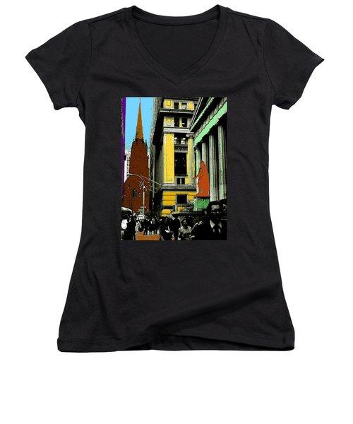 New York Pop Art 99 - Color Illustration Women's V-Neck