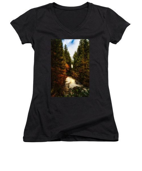 Wallace Fall North Fork Women's V-Neck (Athletic Fit)