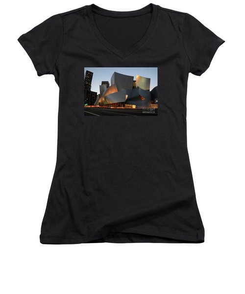 Walt Disney Concert Hall 21 Women's V-Neck T-Shirt