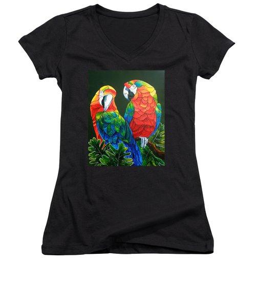 Wanna Know A Secret Women's V-Neck T-Shirt (Junior Cut) by Sherry Shipley