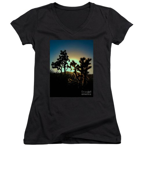 Warmed By The Golden One Women's V-Neck T-Shirt