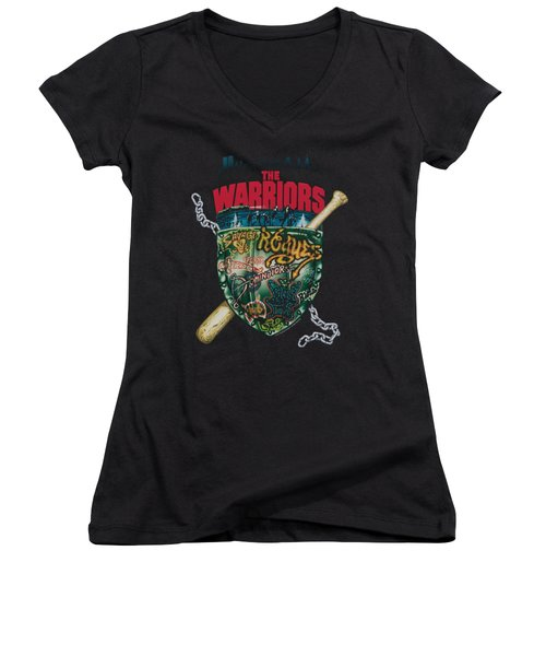 Warriors - Shield Women's V-Neck (Athletic Fit)