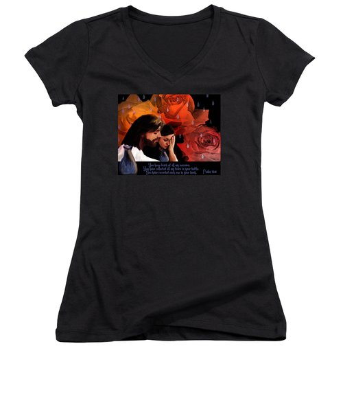 Washed In His Love Women's V-Neck T-Shirt