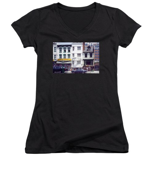 Washington Chinatown In The 1980s Women's V-Neck (Athletic Fit)