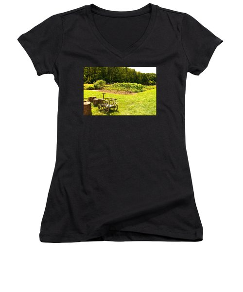 Washington's Garden Women's V-Neck (Athletic Fit)