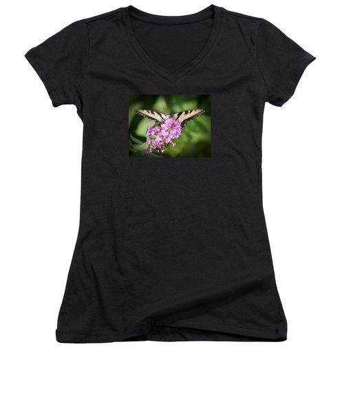 Watching Women's V-Neck T-Shirt (Junior Cut) by Kerri Farley