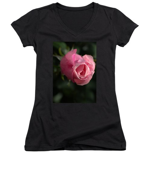 Water And Rose Women's V-Neck T-Shirt