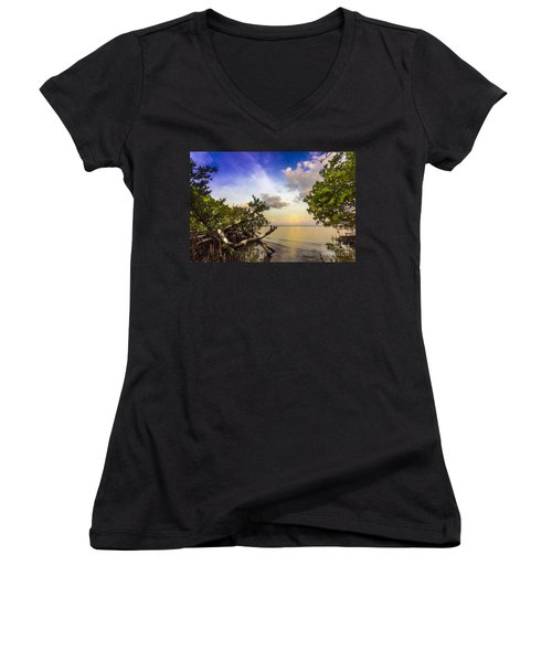 Water Sky Women's V-Neck T-Shirt