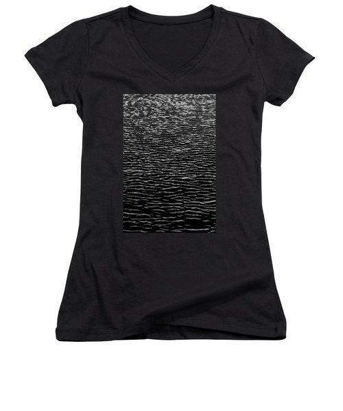 Water Wave Texture Women's V-Neck