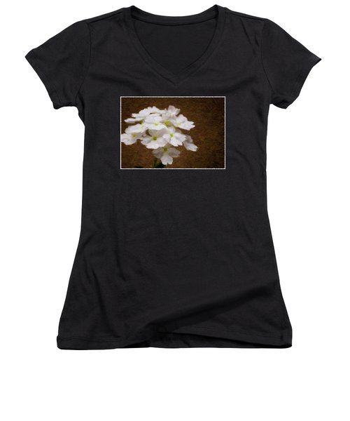 Watercolor Of Daisies Women's V-Neck T-Shirt