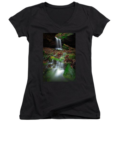 Frankfort Mineral Springs Waterfall  Women's V-Neck