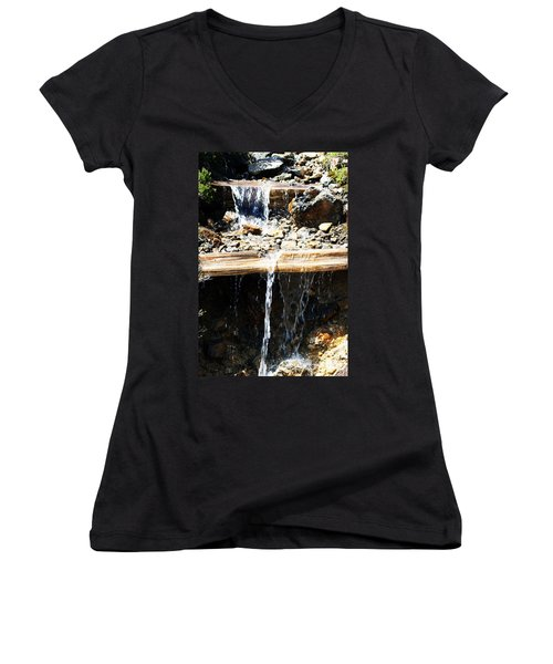 Waterfall Steps Women's V-Neck T-Shirt