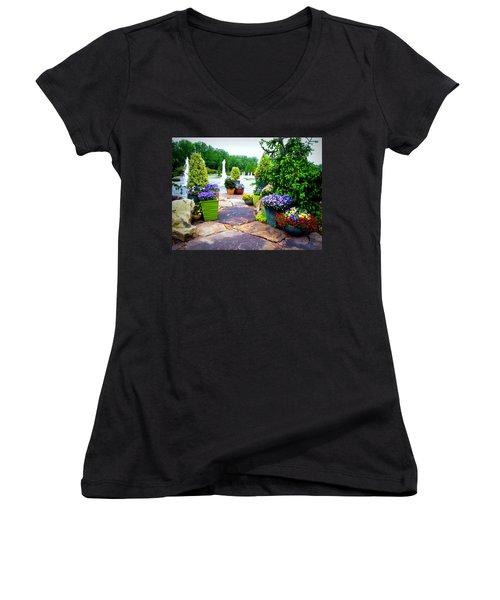 Waterway Path Women's V-Neck T-Shirt