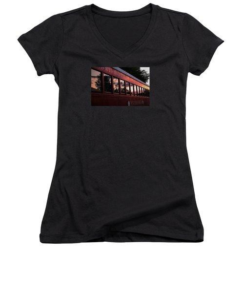 Waukewan Train Women's V-Neck T-Shirt