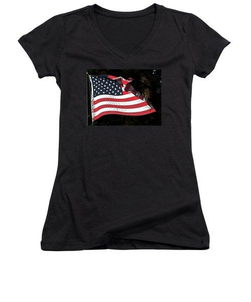 Waving Flag Women's V-Neck