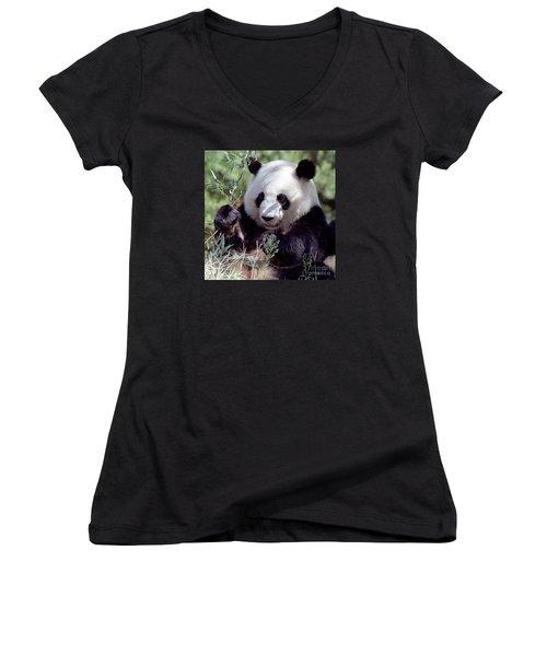 Waving The Bamboo Flag Women's V-Neck T-Shirt