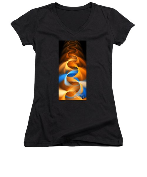 Weaving Color  Women's V-Neck T-Shirt