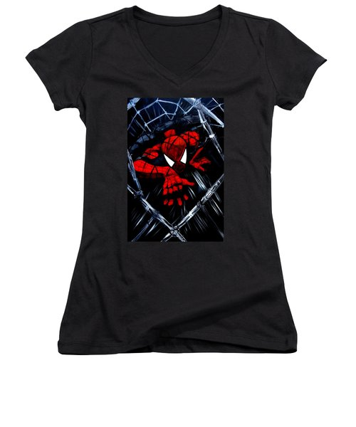 Web Crawler Women's V-Neck T-Shirt